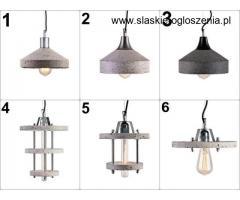 Lampy betonowe Ręcznie Robione, Hand made - Industrialne, Designerskie